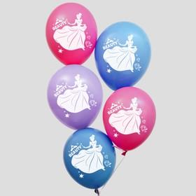 """Воздушные шары """"С Днем Рождения!"""", Принцессы 12 дюйм (набор 5 шт)"""