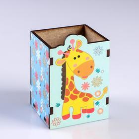 """Подставка для карандашей """"Жираф"""" цветы"""