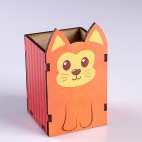 """Подставка для карандашей """"Рыжий котик"""""""