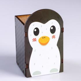 """Подставка для карандашей """"Пингвинёнок"""""""