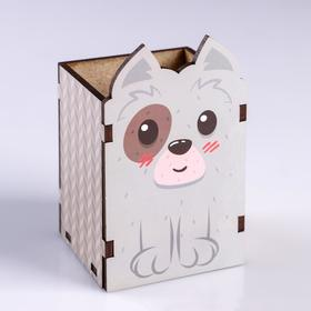 "Подставка для карандашей ""Собачка"""