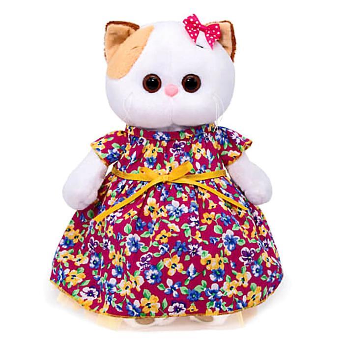 Мягкая игрушка «Ли-Ли» в платье с цветочным принтом, 24 см - фото 105613260