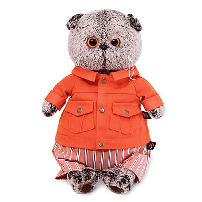 Мягкая игрушка «Басик» в оранжевой куртке и штанах, 19 см - фото 4467981
