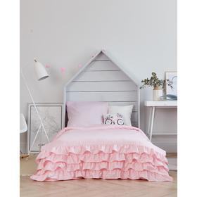 Постельное бельё Этель «Розовая пастель» 1,5 сп 145х210±2 см, 150х210±3 см, 70х70±3 см- 1шт, мако-сатин