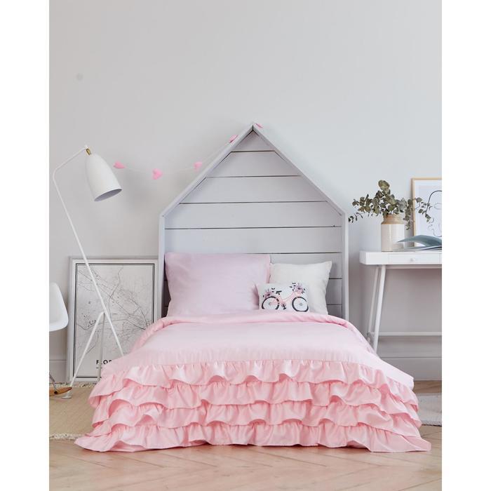 Постельное бельё Этель «Розовая пастель» 1,5 сп 145х210±2 см, 150х210±3 см, 50х70±3 см- 1шт, мако-сатин - фото 105557225