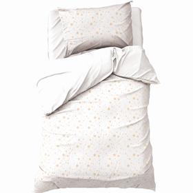 Постельное бельё Этель «Золотые звёзды» 1,5 сп 145х210±2 см, 150х210±3 см, 50х70±3 см- 1шт, мако-сатин