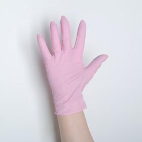 Перчатки универсальные нитриловые «Фламинго», размер M, 100 шт/уп