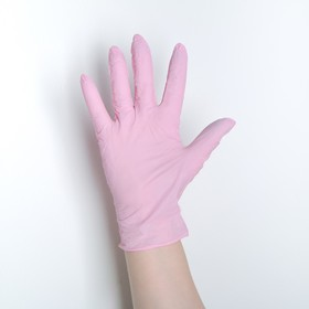 Перчатки универсальные нитриловые «Фламинго», размер L, 100 шт/уп