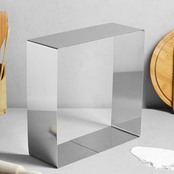 """Форма для выпечки и выкладки """"Квадрат"""", H-12 см, 32 х 32 см - фото 184969"""