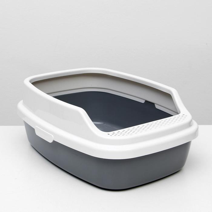 """Туалет """"Айша"""" с бортом 53 х 39 х 23 см, серый - быстрая доставка"""