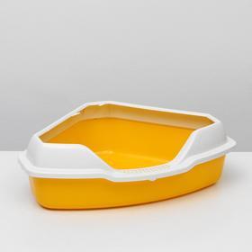 Туалет треугольный 56 х 42 х 17 см, желтый