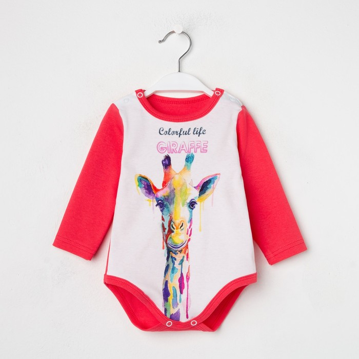 Боди «Жираф» цвет розовый, рост 68 см (44) - фото 105481245