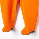 Комбинезон «Чемпион», цвет оранжевый, рост 62 см (40) - фото 105474637