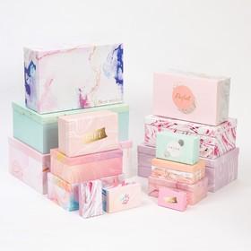 Набор коробок подарочных 15 в 1 «Текстурный», 12 х 7 х 4 см - 46,6 х 35,2 х 17.5 см