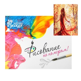Картина по номерам «Принцесса-осень» 40 × 50 см