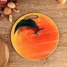 """Доска разделочная круглая кухонная """"Апельсин"""", 27 см"""