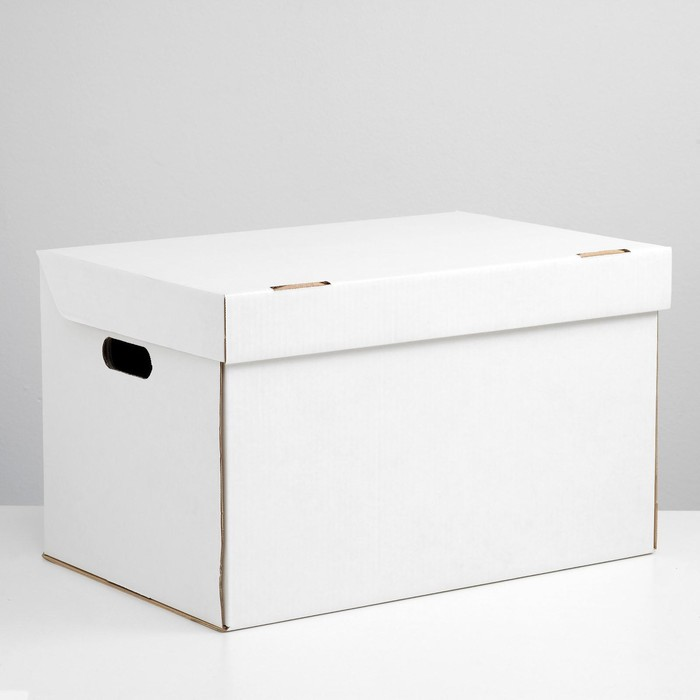 Коробка для хранения, белая, 50 х 34 х 30 см