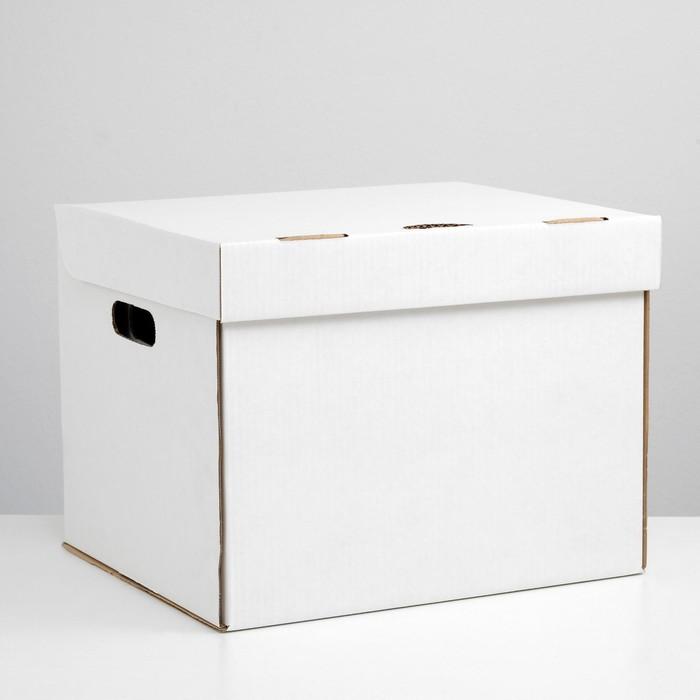 Коробка для хранения, белая, 40 х 34 х 30 см