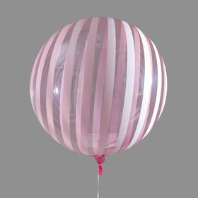 """Polymeric balloon 18"""" to """"Field strip"""" translucent red. Color pattern white"""