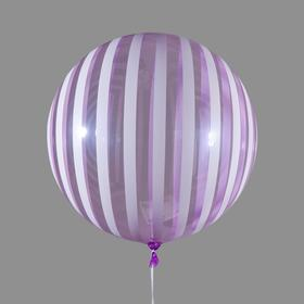 "Polymeric balloon 18"" to ""Field strip"" transparent purple. Color pattern white"