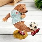 "Polyresin figurine ""Bear with ball"" 10.2x5.5x10 cm"