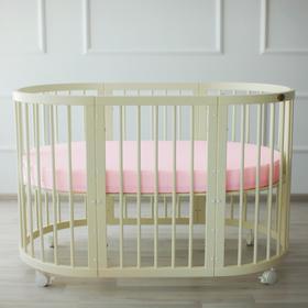 {{photo.Alt || photo.Description || 'Простыня овальная на резинке «Крошка Я» 165х115+20 см, цвет розовый, мако-сатин'}}