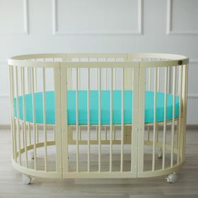 {{photo.Alt || photo.Description || 'Простыня овальная «Крошка Я» на резинке 125х75+20 см, цвет мятный, мако-сатин'}}
