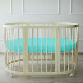 {{photo.Alt || photo.Description || 'Простыня овальная «Крошка Я» 165х115 см, цвет мятный, мако-сатин'}}