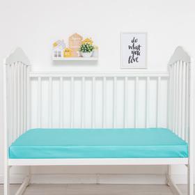Простыня прямоугольная «Крошка Я» 100х160 см, цвет мятный, мако-сатин