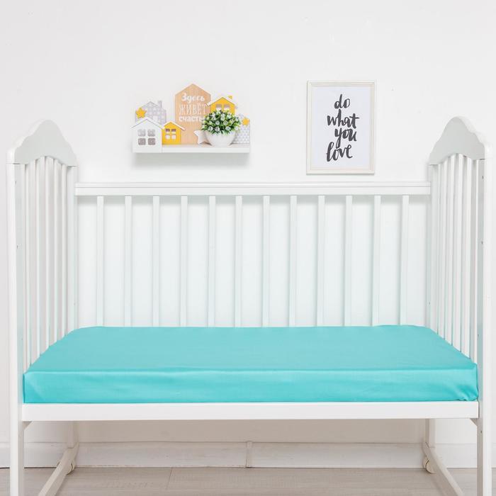 Простыня прямоугольная «Крошка Я» 100х160 см, цвет мятный, мако-сатин - фото 105556634