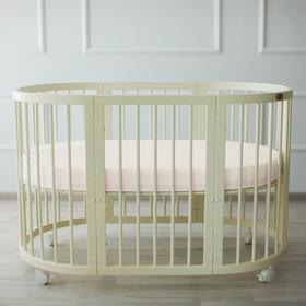 {{photo.Alt || photo.Description || 'Простыня овальная «Крошка Я» 165х115 см, цвет молочный, мако-сатин'}}