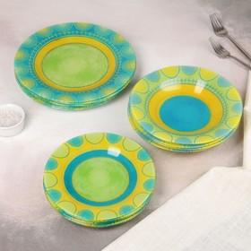 Сервиз столовый Propriano turquoise, 18 предметов