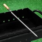 """Шампур с деревянной ручкой """"Премиум"""", 65 х 1,25 см, нержавеющая сталь - 2 мм  1Сорт"""