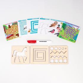 Многоразовые карточки «Пиши-стирай», мир животных