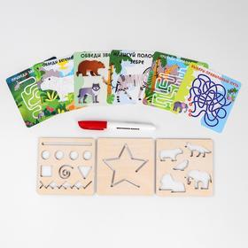 Многоразовые карточки «Пиши-стирай», путешествие с животными