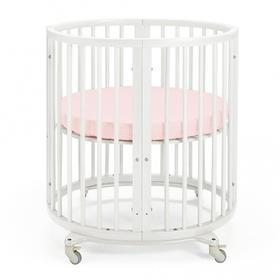 {{photo.Alt || photo.Description || 'Простыня круглая на резинке «Крошка Я» 115х115+20 см, цвет розовый, мако-сатин'}}