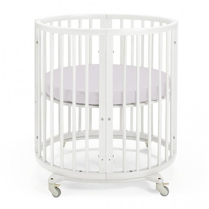 Простыня круглая «Крошка Я» 115х115 см, цвет серый, мако-сатин - фото 76772687