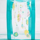 Набор сумка в роддом и косметичка «Перья» - фото 105543060