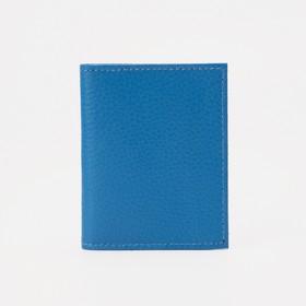 Визитница на 20 карт, цвет голубой