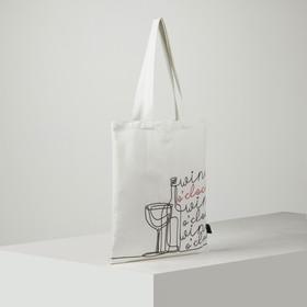 """Сумка-шоппер """"Wine"""" 33х39 см, п/э"""