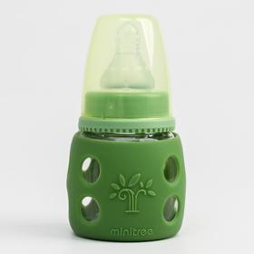 Бутылочка в силиконовом чехле, стекло, от 0 мес., 60 мл., цвет МИКС для мальчика
