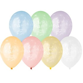 """Шар латексный 14"""" «С днём рождения», одуванчики, кристалл, набор 25 шт., МИКС"""