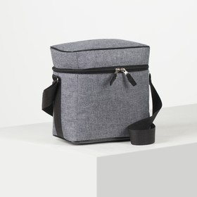 Bag thermo Cationic, 24*15*24 the division with zip, grey