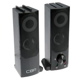 Компьютерные колонки 2.0 CBR CMS 514L Black, 2х3 Вт, USB, чёрные