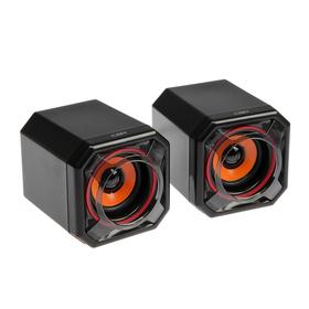 Компьютерные колонки 2.0 CBR CMS 498 Orange, 2х5 Вт, USB, чёрно-оранжевые Ош