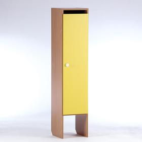 Шкаф для одежды 312х340х1420 (1-мест),  ЛДСП, корпус - бук, фасад - цветной