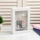 """Piggy Bank plastic interior """"Girl with bear"""" 17х12х3,8 cm"""