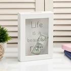 "Piggy Bank plastic interior ""Life is beautiful road"" 17х12х3,8 cm"