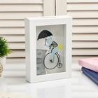 """Interior plastic piggy Bank """"Bear on bike"""" 17х12х3,8 cm"""