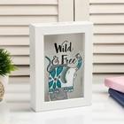 "Piggy Bank plastic interior ""Wild and free elephant"" 17х12х3,8 cm"